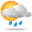 Patchy rain possible, 0009 light rain showers