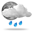 Patchy rain possible, 0025 light rain showers night