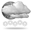 Moderate or heavy<br>snow showers, 0028 heavy snow showers night