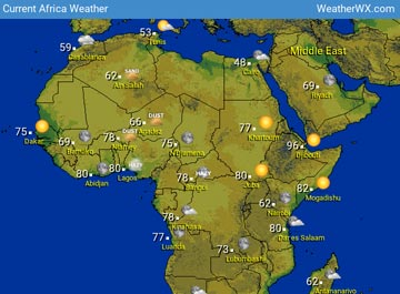 Africa Weather map