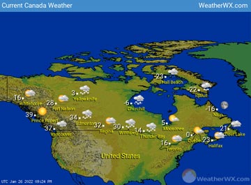 Canada Weather map