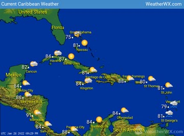 Caribbean Weather map