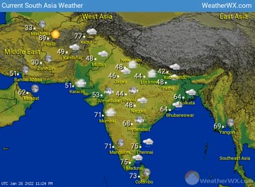 South Asia Weather map